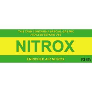 Nitrox sticker 29 x 10cm